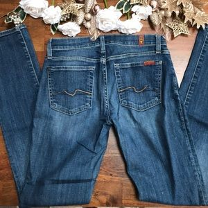 👖 7 For All Man Kind Skinny Jeans Size 28 Soft